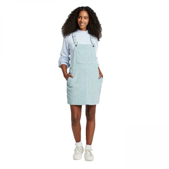 wild fable Dresses & Skirts - Wild Fable Sleeveless Corduroy Overall Dress Teal